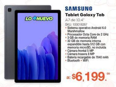 """Oferta de GALAXY TAB A7 10.4"""" GRIS 32GB por $6199"""