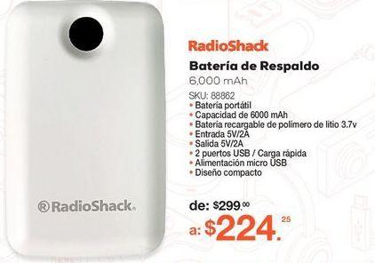 Oferta de Power Bank RadioShack YF92 por $224