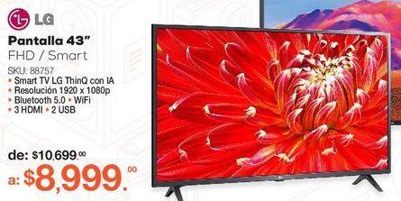 Oferta de Pantalla LG 43LM6300PUB / 43 pulgadas / FHD / Smart TV por $8999