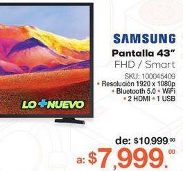 """Oferta de Pantalla 43"""" Samsung por $7999"""