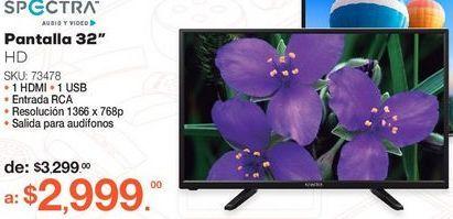 Oferta de Pantalla Spectra SPTV32D7 / 32 pulgadas / HD por $2999