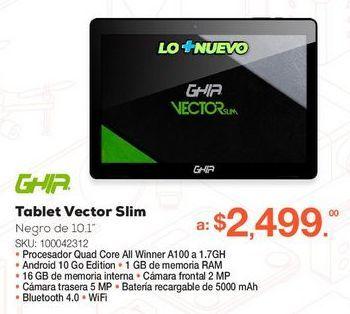 Oferta de Tablet Ghia Vector Slim  por $2499