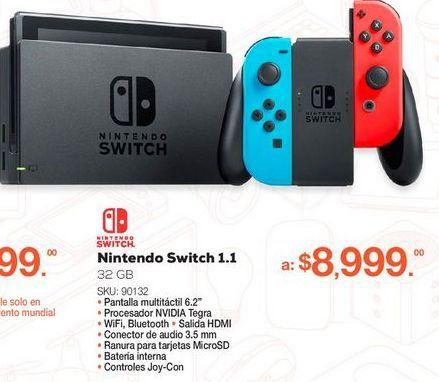 Oferta de Nintendo Switch por $8999