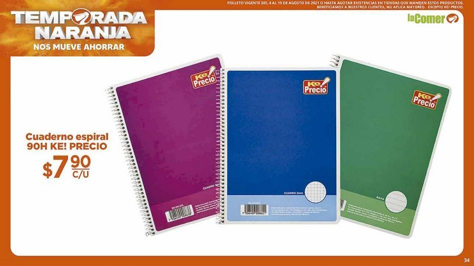 Oferta de Cuadernos por