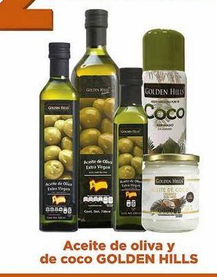 Oferta de Aceite de oliva y de coco Golden Hills por