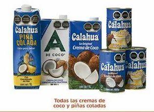 Oferta de Todas las cremas de coco y piñas coladas por