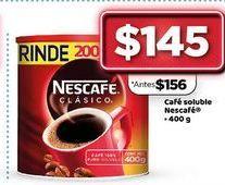 Oferta de Café Soluble Nescafé 400 g  por $145