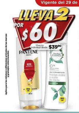Oferta de Shampoo Pantene por $60