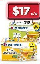 Oferta de Té McCormick por $17
