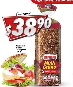 Oferta de Pan de Caja Bimbo 610 g  por $38.9