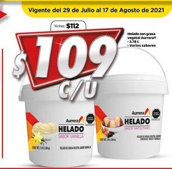 Oferta de Helados Aurrera por $109