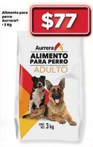 Oferta de Alimento para perros Aurrera 3 kg por $77