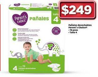 Oferta de Pañales parent's chioce por $249