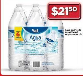 Oferta de Agua Great Value por