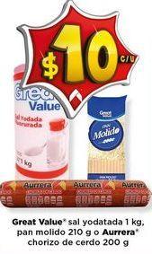 Oferta de Sal Great Value por $10