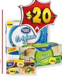 Oferta de Pan tostado Great Value por $20