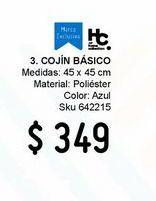 Oferta de Cojín decorativo 45x45 Basic por $349