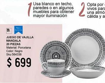 Oferta de Jgo Vajilla 20Pz Mandala Caf por $699