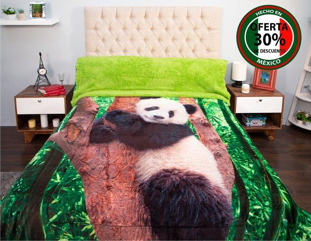 Oferta de Edredón Matrimonial Borrego Amigo Panda por $299