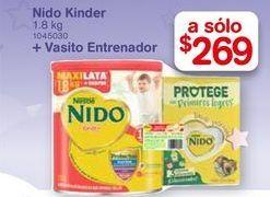 Oferta de Leche en polvo Nido + vasito entreador 1.8 kg por $269