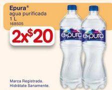 Oferta de Agua E-Pura1 litro por