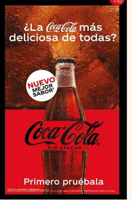 Oferta de Coca-Cola sin azucar por