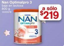 Oferta de Formula láctea NAN Optipro baja en lactosa Etapa 3 800 gr  por $219