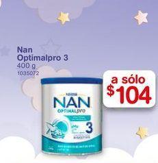 Oferta de Formula láctea NAN optmalpro 3 400 gr por $104