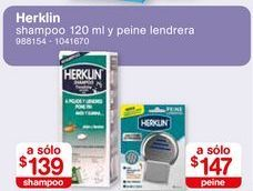 Oferta de Shampoo antipiojos Herklin por