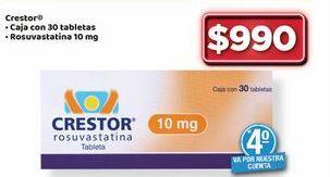 Oferta de Medicamentos crestor 30 tabletas por $990