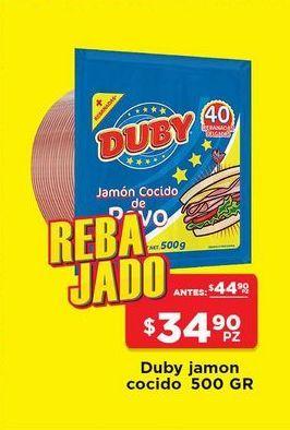 Oferta de Jamón cocido Duby 500 gr por $34.9