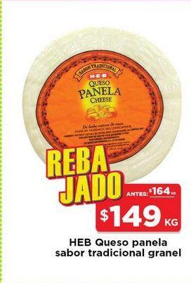 Oferta de Queso panela HEB kg por $149