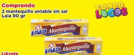 Oferta de Mantequilla untable sin sal Lala 90 gr por