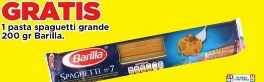 Oferta de Pasta spaghetti grande Barilla 200 gr por