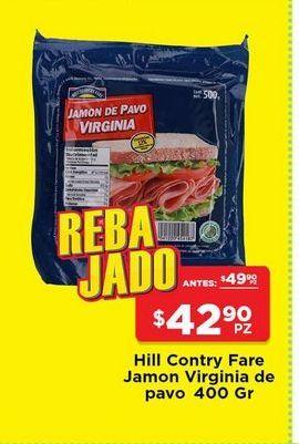 Oferta de Jamón virginia de pavo Hill Country Fare 400 gr por $42.9