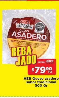 Oferta de Queso asadero HEB 500 gr por $79.9