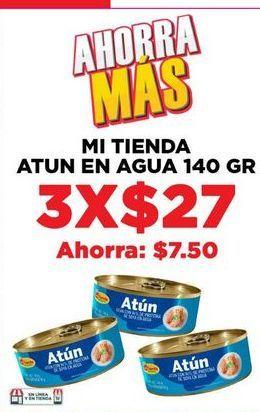 Oferta de Atún en agua mi tienda 140 gr por