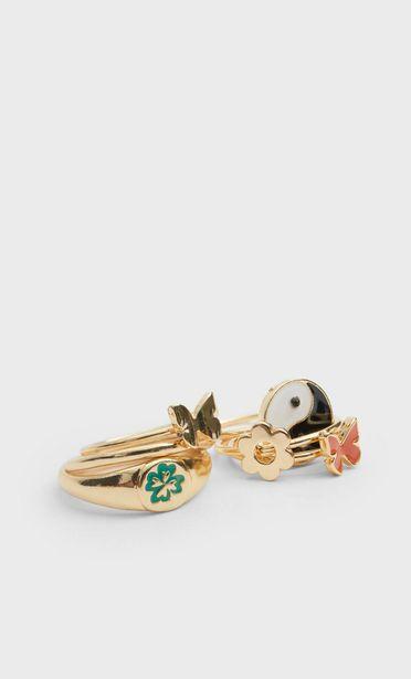 Oferta de Set 6 anillos mariposa por $179