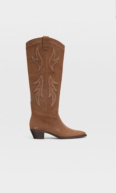 Oferta de Botas cowboy de piel por $2299