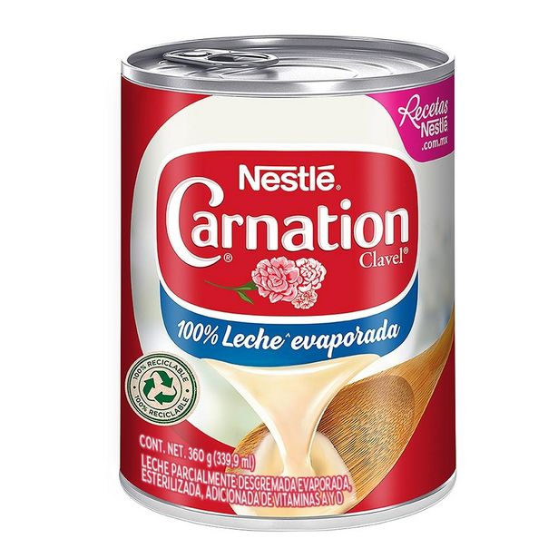 Oferta de Leche evaporada Nestl Carnation Clavel 360 g por $17