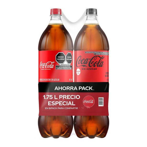 Oferta de Refresco Coca Cola  original 1.75 l  1 Coca Cola sin azcar 1.75 l por $44