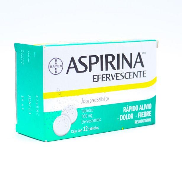 Oferta de Aspirina Tabletas Efervescentes 500mg con 12 Piezas por $43