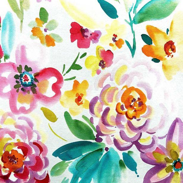 Oferta de Loneta Panamá Estampado | Flores en Acuarela por $189.99