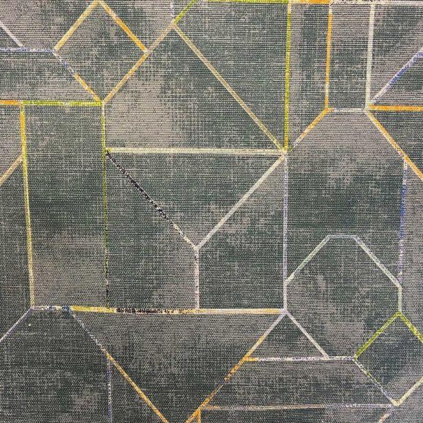 Oferta de Loneta Panamá Estampado | Líneas Geométricas por $189.99