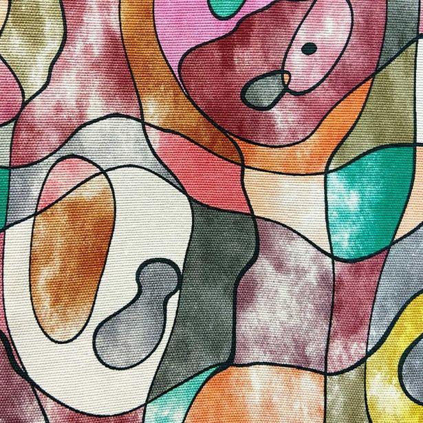 Oferta de Loneta Panamá Estampado   Pintura Abstracta por $189.99