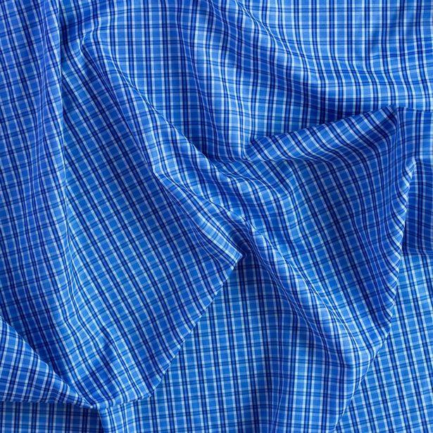 Oferta de Camisero Newport Azul Cuadro Grande por $74.99