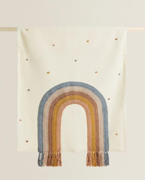 Oferta de Manta Arcoiris Flecos por $1599