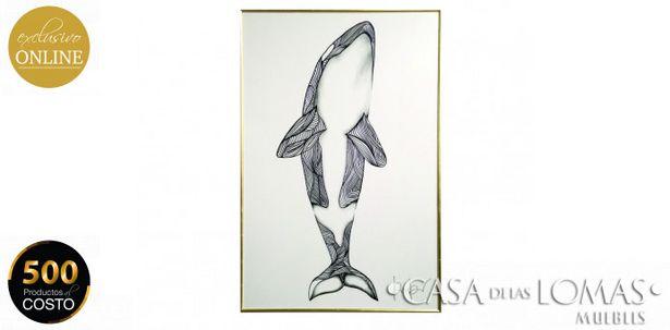 Oferta de Cuadro White Whale 120 x 180. por $7599