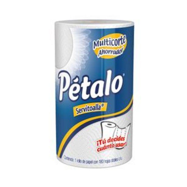 Oferta de Servitoalla Petalo 180 hojas dobles 1 rollo por $21.8