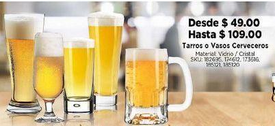 Oferta de Tarro de cerveza Cristal por $49